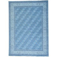 """Turkish Knot Oushak Cropped Thin Hand-knotted Rug (10' x 13'9) - 10'0"""" x 13'9"""""""