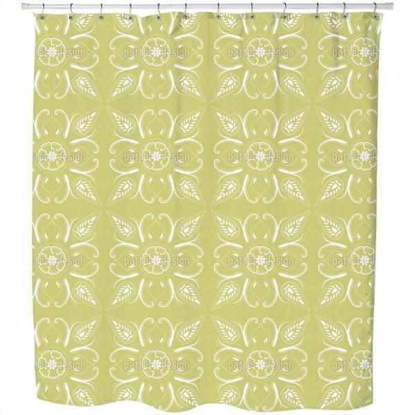 Bandana Mellow Green Shower Curtain