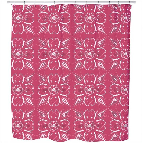 Bandana Fuchsia Shower Curtain