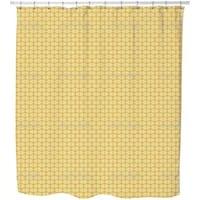 Bamboo Yellow Shower Curtain