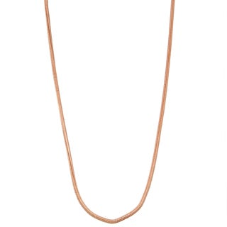 Gioelli 14k Rose Gold Snake Necklace