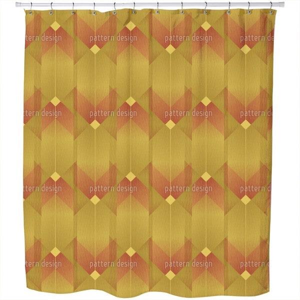 Art Deco Lines Shower Curtain