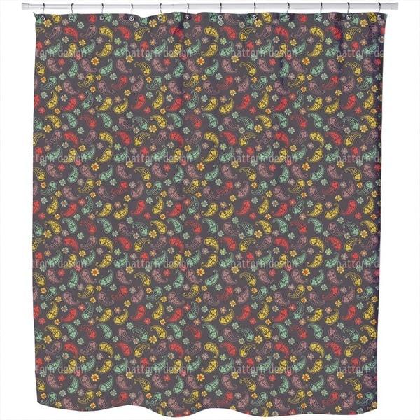 Autumn of Paisley Mix Shower Curtain