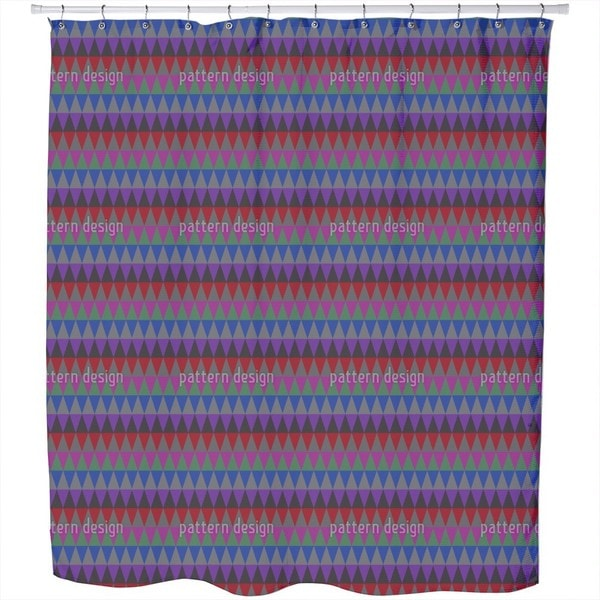 Autumn Mood of The Triangles Shower Curtain