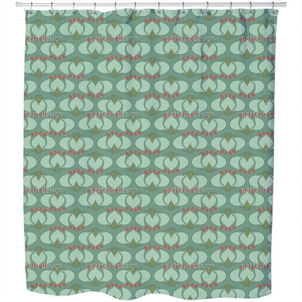 Shop Art Nouveau Tulip Shower Curtain