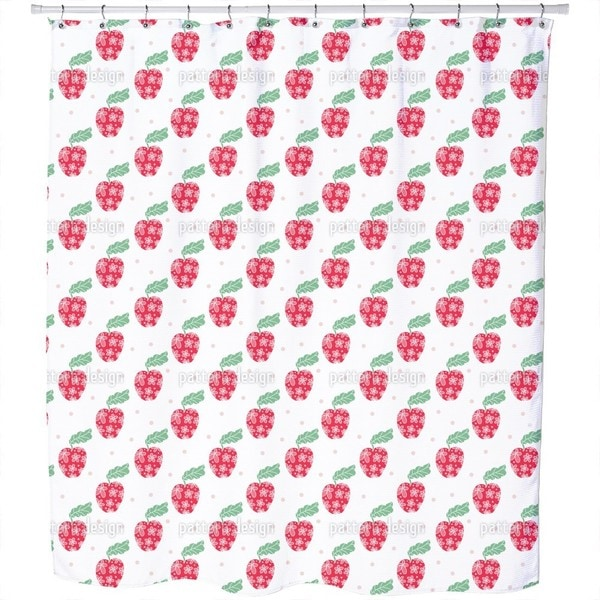Apple in Sight Shower Curtain