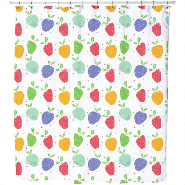 Apples On Dots Shower Curtain