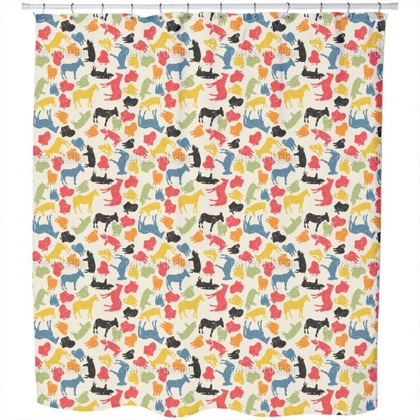 Shop Animals On Our Farm Shower Curtain