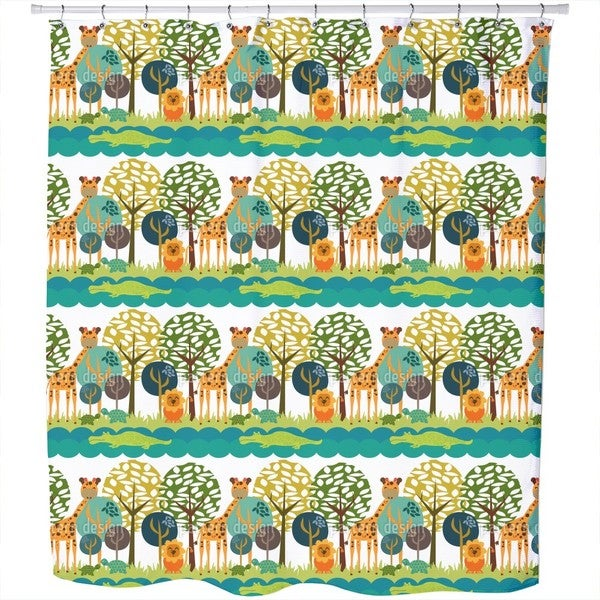 African Safari Club Shower Curtain