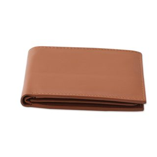 Handcrafted Men's Leather 'Bengal Tan' Wallet (India)