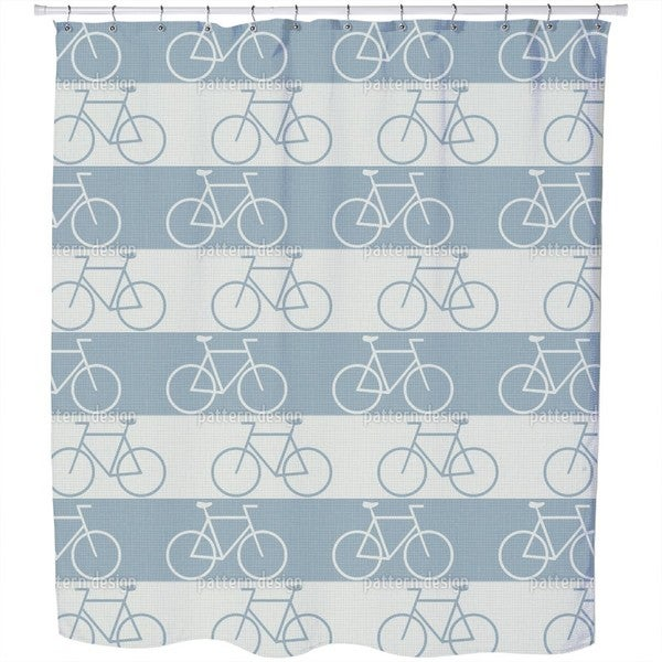 Cycle Paths Shower Curtain