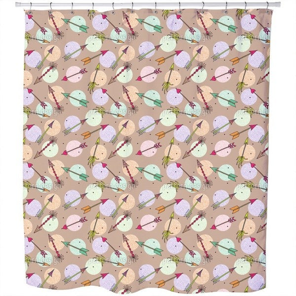 Cupids Arrows On Dots Shower Curtain