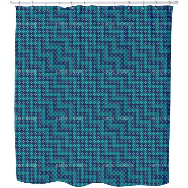 Crossing Waves Shower Curtain