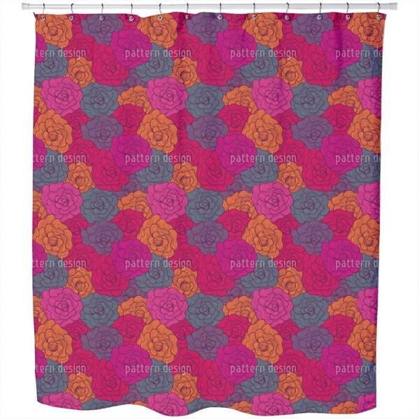 Crochet Roses Shower Curtain