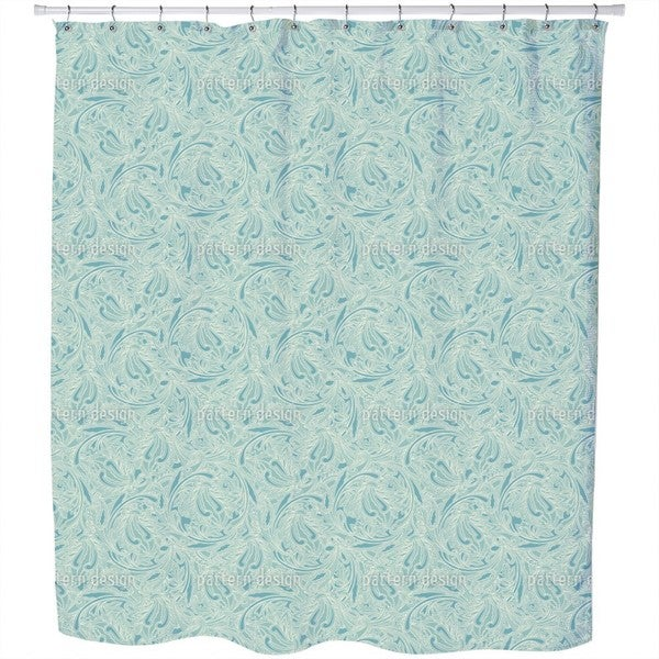 Copper Engraving Shower Curtain