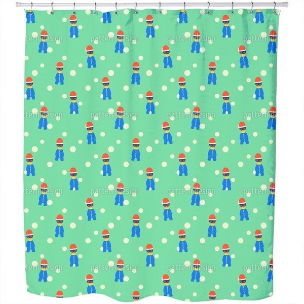 Cool Winter Kids Shower Curtain