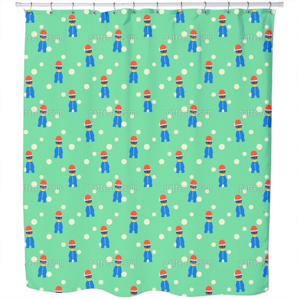 Uneekee Cool Winter Kids Shower Curtain (Extra Long (70 i...