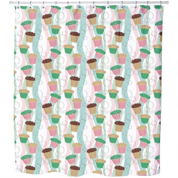 Colorful Muffins Shower Curtain