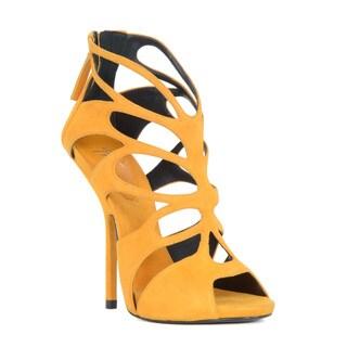 Giuseppe Zanotti Suede Heel Sandal with Cutout Design