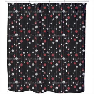 Christmas Tree Balls Black Shower Curtain https://ak1.ostkcdn.com/images/products/11620336/P18556058.jpg?impolicy=medium
