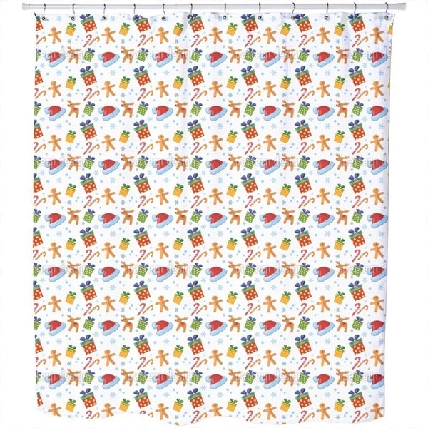 Shop Christmas Candy Shower Curtain