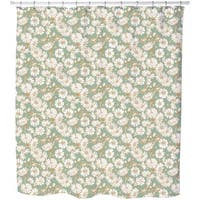 Chicory and Bladder Campion Shower Curtain