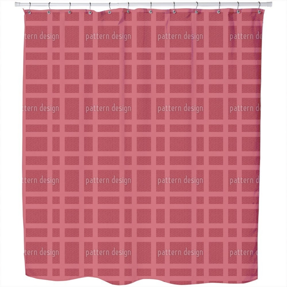 Uneekee Checked Bricks Shower Curtain (Extra Long (70 inc...