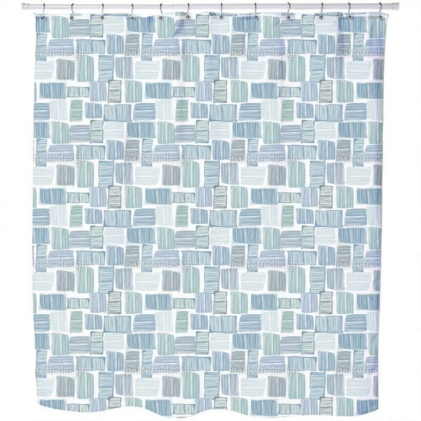 Checks in Stripes Shower Curtain