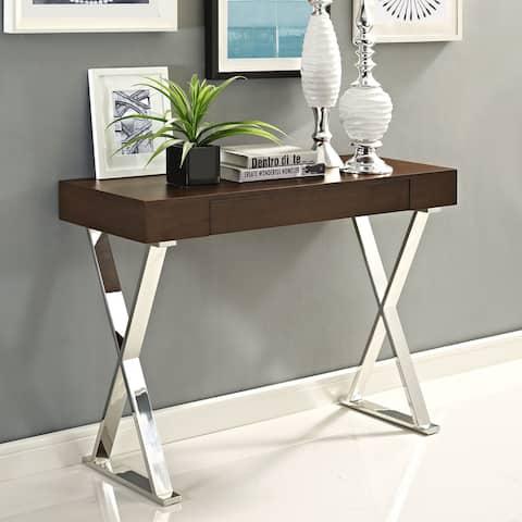Durable Fiberboard Console Table, White