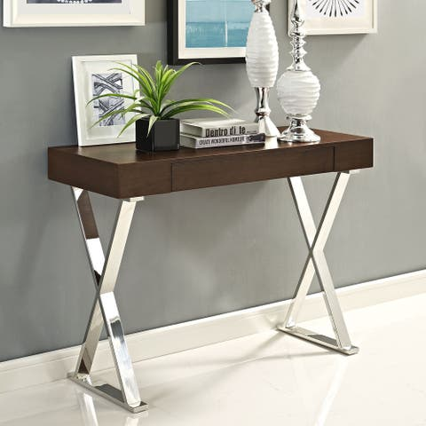 Sector Polished Stainless Steel Console Table