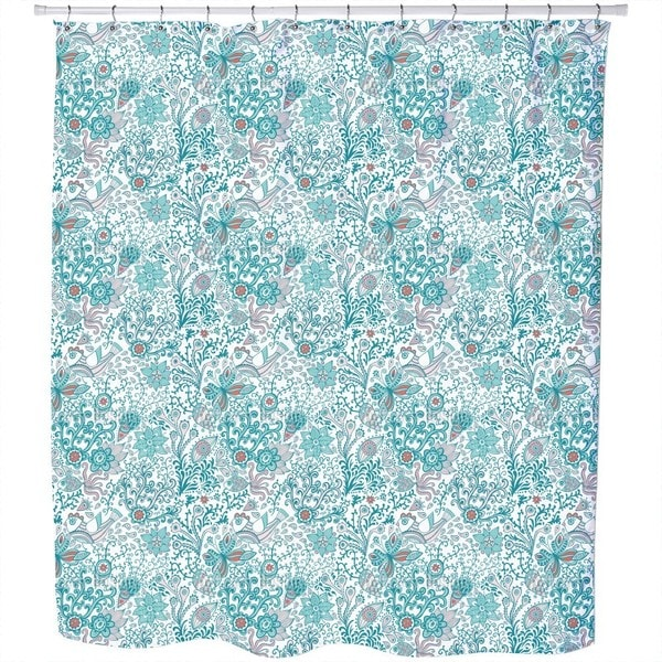 Above and Below Water Shower Curtain