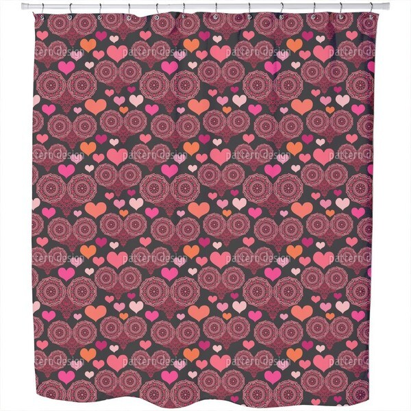 A Heart For Folklore Shower Curtain