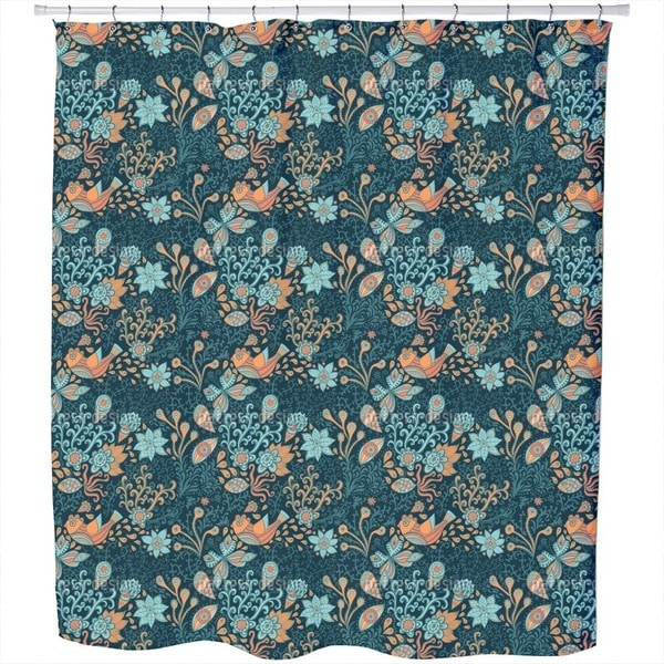 Above and Below Water At Night Shower Curtain