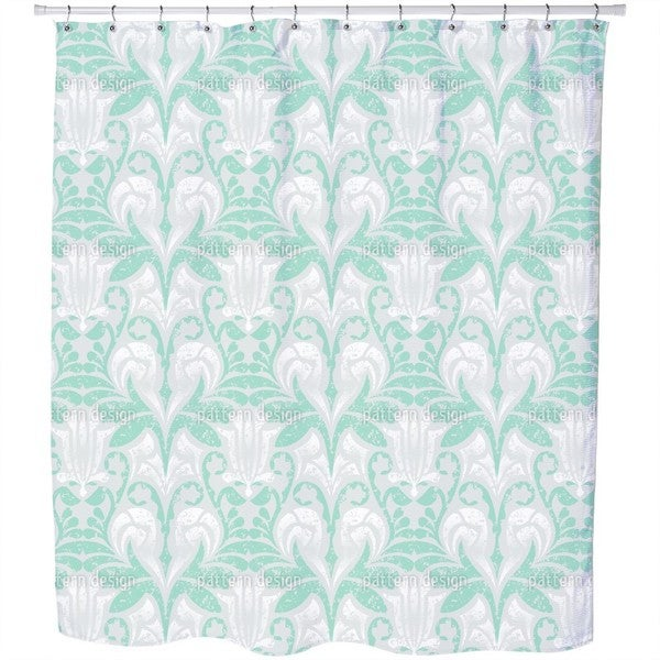 Damasko Green Shower Curtain