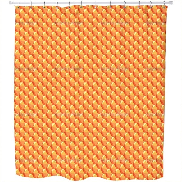 Dimensions of The Sun Stones Shower Curtain