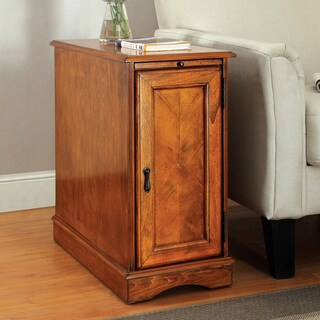 Furniture of America Merra Transitional Storage Side Table