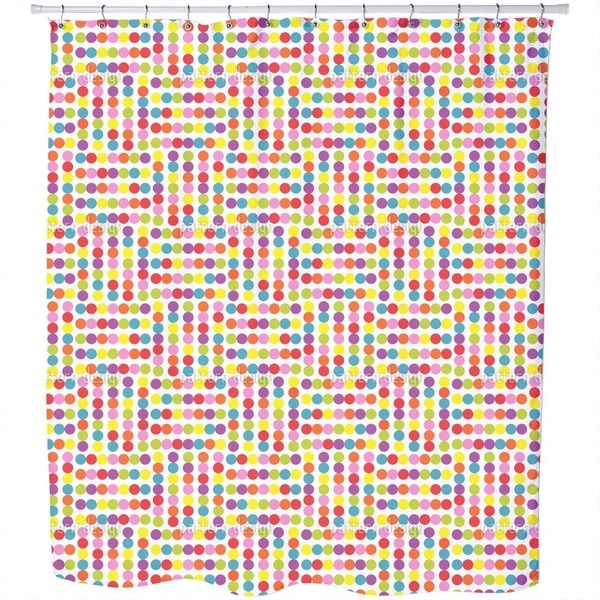 Dotted Labyrinth Shower Curtain
