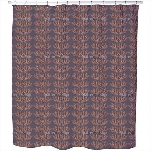 Dotty Leaves Shower Curtain