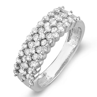 Elora 14k White Gold 1ct TDW Diamond Bridal Anniversary Wedding Band Ring (I-J, I1-I2)