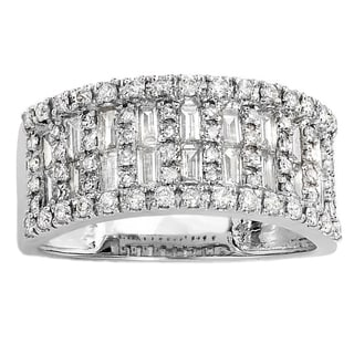 Elora 14k White Gold 1ct TDW Baguette Diamond Wedding Band (H-I, I1-I2)