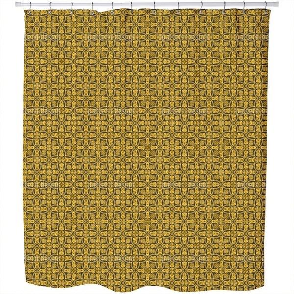 Ethno Crosses Shower Curtain