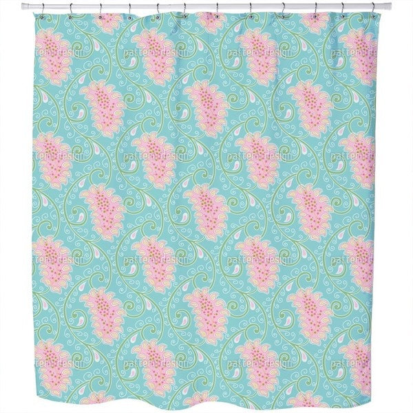 Exotic Tendrillars Shower Curtain