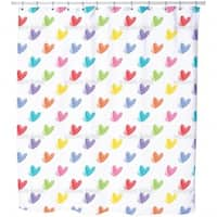 Fading Hearts Shower Curtain