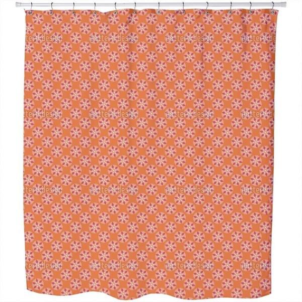Fantasy Pit Orange Shower Curtain