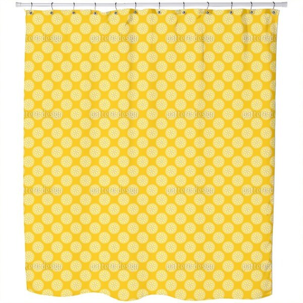 Fantasy Pit Yellow Shower Curtain