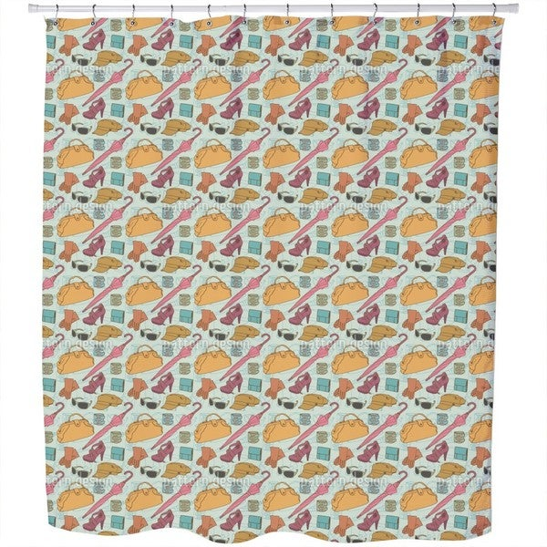 Fashionable Clothes Shower Curtain