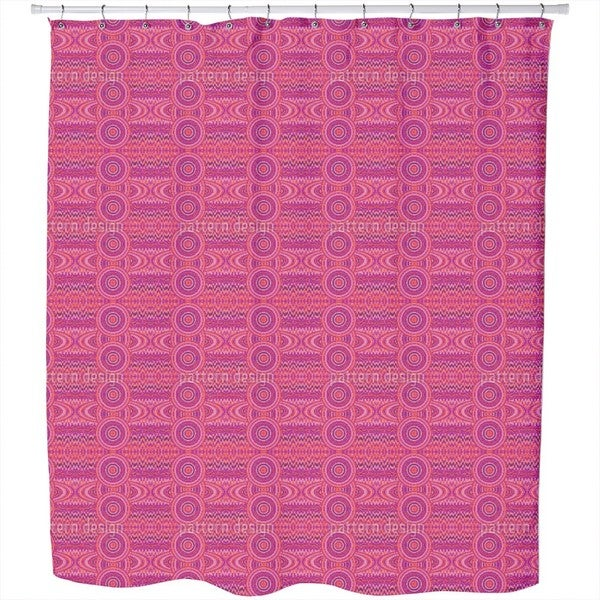 Female Pixel Planets Shower Curtain