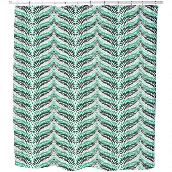 Fern Chevron Shower Curtain