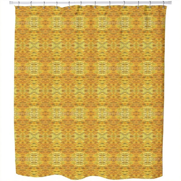 Fibrillation in The Gold Chamber Shower Curtain