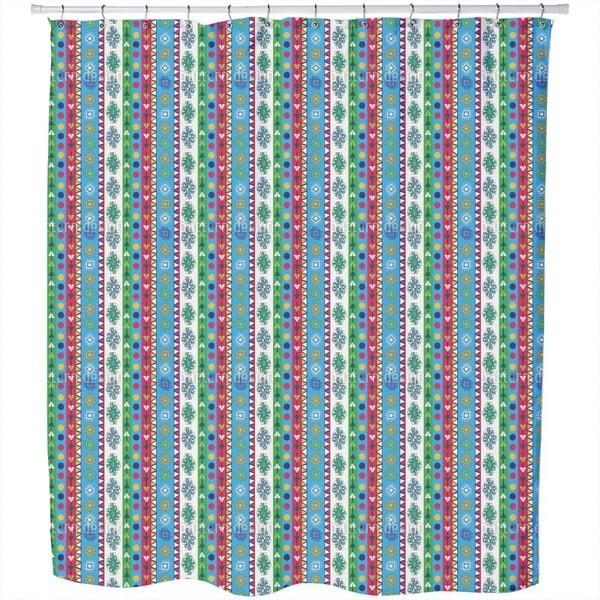 Fidel Junior Likes Stripes Shower Curtain